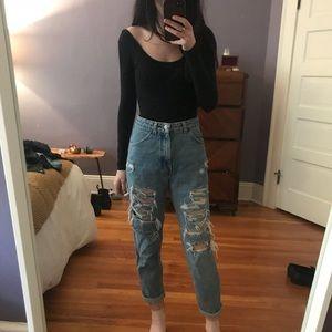High Waist Vintage Mom Jeans